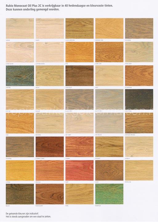 Kleurolie hout