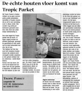 Kranten artikel bedrijfs Interview