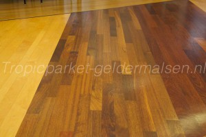 Showroom Merantie hout parket