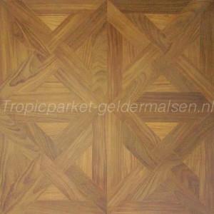 Onbehandeld teak hout patroonvloer