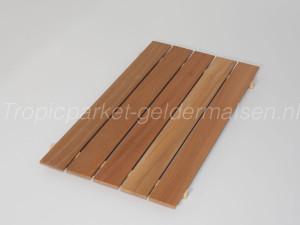 Mahonie onbehandeld parket hout
