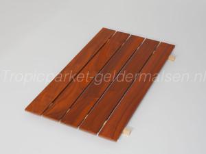 Padoek hout stroken onbehandeld