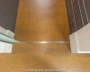 RVS strip onder Glazen Schuifdeur